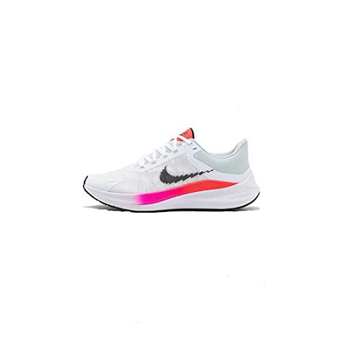 Nike Winflo 8, Zapatillas para Correr Hombre, White Black Bright Crimson Total Orange, 41 EU