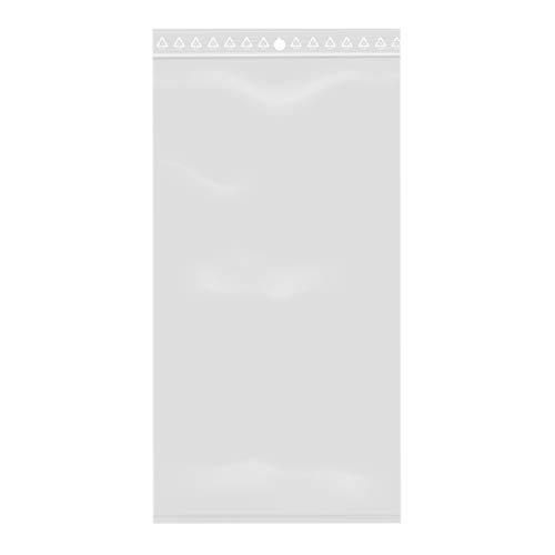 100 bolsas de plástico con cierre de cremallera transparente (10 x 20 cm)