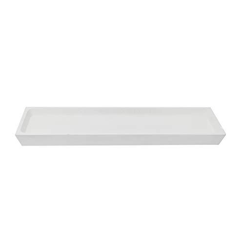 Trendy Wood & Light Tablet weiß Dekoschale Holz Schale Deko modern Dekoartikel Geschenk (weiß)