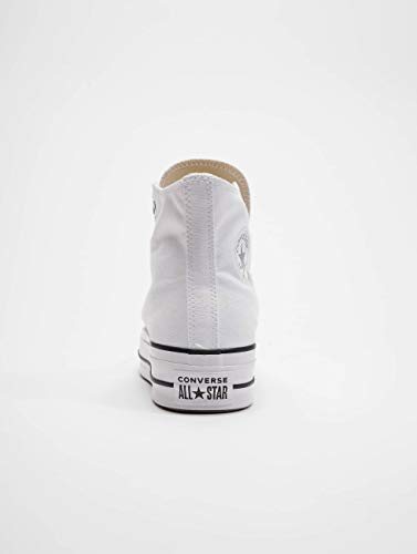 Converse Chuck Taylor CTAS Lift Hi, Zapatillas Mujer, Blanco (White/Black/White 102), 36.5 EU