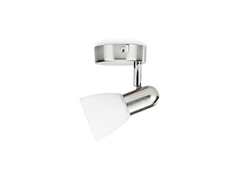 Philips Luminaires Burlap Faretto Singolo Orientabile, Cromato, 1 x 40 W
