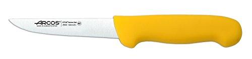 Arcos Serie 2900, Cuchillo Deshuesador, Hoja de Acero Inoxidable Nitrum de 130 mm, Mango inyectado en Polipropileno Color Amarillo