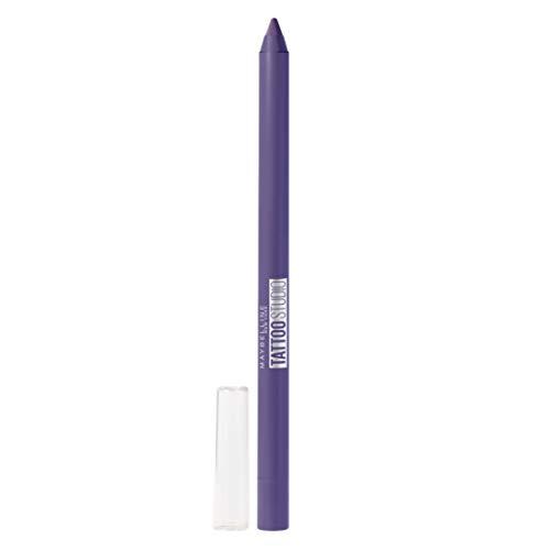 Maybelline New York TattooStudio Waterproof, Long Wearing, Eyeliner Pencil Makeup, 0.04 Ounce, Rich Amethyst