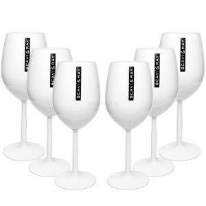 Scavi & Ray Gläser-Set - 6X Weingläser/Ballongläser in weiß