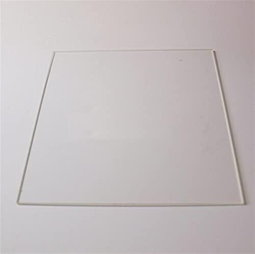 XBaofu 1pc 200 * 213 * 3 mm de Cristal Imprimir Tabla for Reprap Impresora 3D Calefacción Cama Placa de Vidrio borosilicato Placa Rectangular (tamaño : Shinny Type)