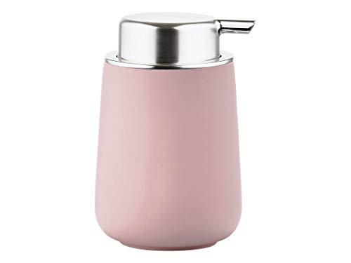 Zone Denmark Nova Seifenspender für Flüssigseife, Porzellan mit Soft Touch-Beschichtung, rosa