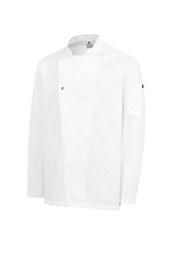 MONZA OBREROL Chaquetilla Cocinero Hombre de Manga Larga con Corchetes. Ropa Cocina/Hostelería. Ref: 4122. Disfruta de la Excelencia