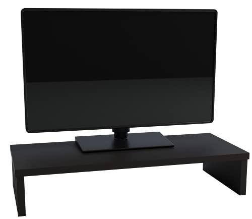 Henor Supporto per Monitor, Rialzo per Schermo TV, Legno, 82 x 26,5 x 12 cm, Supporta 50 kg, Grafite