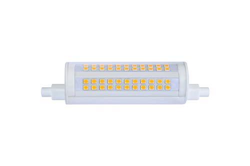ECOBELLE® 1 x Ampoule en Céramique LED R7S *HYPERNOVA FOCUS* 20W 2500 Lumen (Ampoule R7s Haute Luminosité), Couleur Blanc Chaud 3000K, 118 mm 270 Degrés Focus