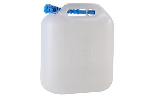 hünersdorff Wasserkanister ECO mit Auslaufrohr und unverlierbarer Deckelverschraubung, 22 L (mit Rohr)
