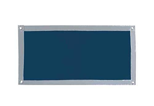 WENKO Fenster-Sonnenschutz 47 x 92 cm - Sonnenschutz/Kälteschutz mit Saugnäpfen ohne bohren, Polyester, 47 x 92 cm, Silber matt