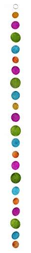MIK Funshopping Design Capiz-Muschel-Girlande-Perlmutt-Hänger Mehrfarbig Länge 180cm (grün-blau-violett-orange)
