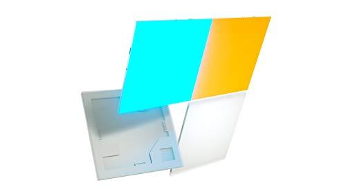NANOLEAF NL29-0001SW-4PK Panneaux Lumineux Carrés Intelligents, Plastique, 4 W, Blanc