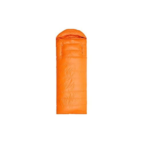 HMSLINCK - Sacco a pelo da campeggio, pieghevole, 4 stagioni, portatile, leggero, impermeabile, campeggio, viaggi, trekking all'aperto, arancione, 1 kg