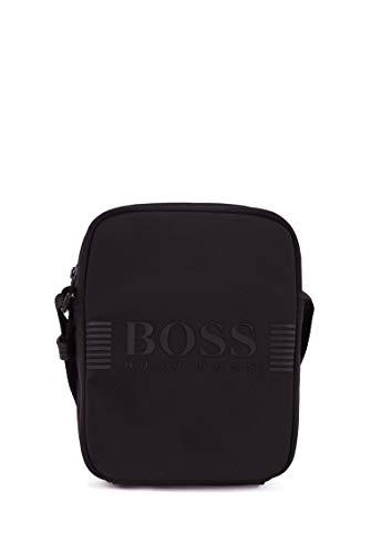 BOSS Herren Pixel NS zip mini Reporter-Tasche aus strukturiertem Nylon mit Logo-Print Größe One Size