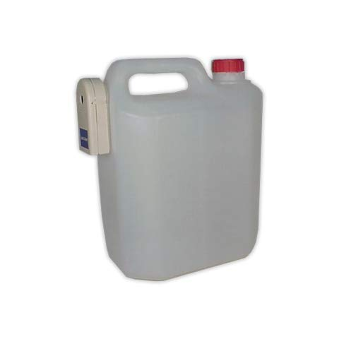 DOJA Industrial | Bidón de plástico condensados con alarma para aire acondicionado capacidad de 10 l | Garrafa de plástico con sensor acústico de nivel de agua