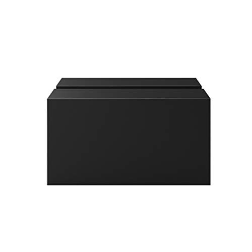 Tissue Holder, rechthoekige Tissue Box Deksel Holder, Plastic ABS, Facial Tissue Collection Box for Home Office (Color : Black)