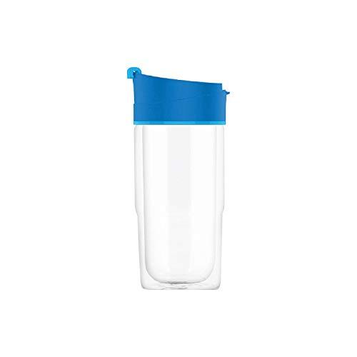 SIGG Nova Blue Thermobecher (0.37 L), schadstofffreier und isolierter Kaffeebecher, auslaufsicherer Coffee to go Becher aus hitzebeständigem Glas
