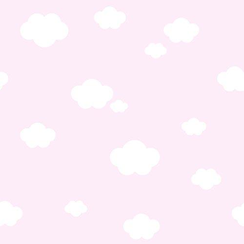 Rasch Textil Papiertapete Tapete - Kollektion Bimbaloo 2- 330242 Wolken Weiß Rosa
