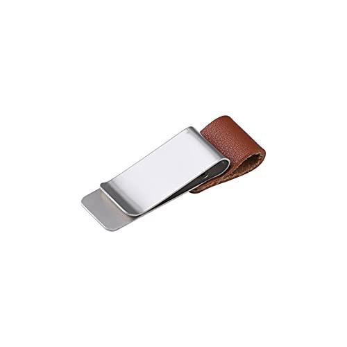 N\C Clip para bolígrafo de Cuero Traveller de 4 Piezas con Clip de Cuero para Cuaderno Vintage de Acero Inoxidable Adecuado para la mayoría de bolígrafos Clip de Diario de Notas de Hojas Sueltas