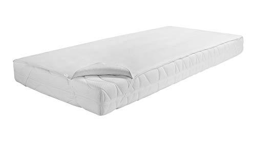 Dormisette Q70 Premium Matratzenauflage, Wasserdicht und atmungsaktiv, 70/140 cm, Baumwolle/Reinweiß