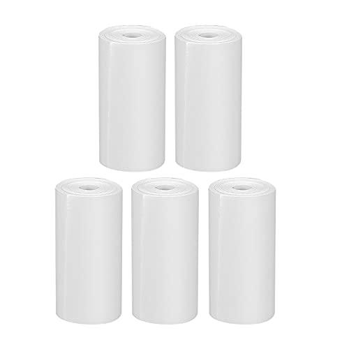 GlobalCrown Recarga de papel de impresión para cámaras instantáneas para niños, 5 rollos de papel para impresora térmica, papel de impresión blanco sin tinta (5 rollos)