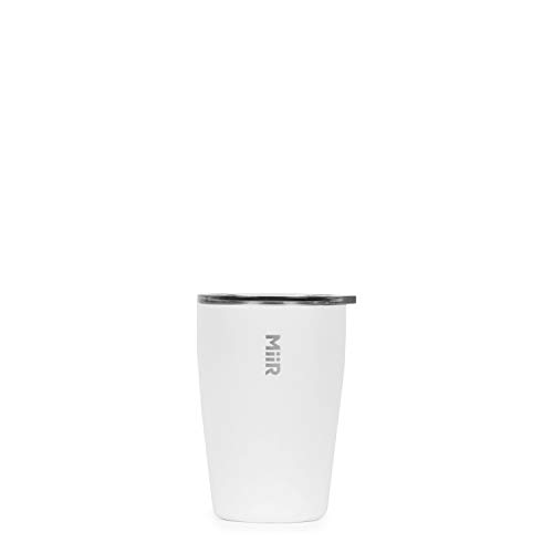 MiiR, Insulated Tumbler with Press-on Lid for Coffee, Tea and Car Cup Holder Compatible, White, 6 Oz