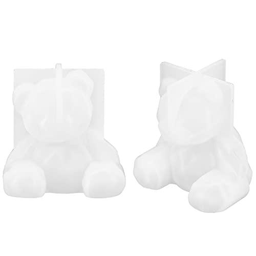 Molde epoxi de oso 3D de 2 piezas, molde de hielo de...