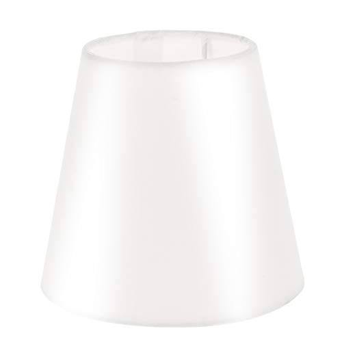 Uonlytech Pantalla pequeña de tela barril para lámpara de mesa, lámpara de araña, repuesto para casa, 1 unidad, color crema