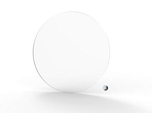 FixtureDisplays 1PK 20' Clear Acrylic Plexiglass Lucite Circle Round Disc, 1/8' Thick 18822-20'-1/8'-NF No