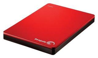Seagate Backup Plus Slim 2 TB tragbare externe Festplatte (6,3 cm (2,5 Zoll) USB 3.0, PC und Mac) rot