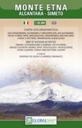 Sizilien Wanderkarte: Etna / Ätna topographische Freizeitkarte 1:50.000 mit MTB-, Ski- und Kayakrouten