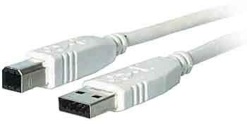EFB-Elektronik USB 2.0 A/B 1.5m - Cable USB (1,5 m, USB A, USB B, 2.0, Male Connector/Male Connector, Gris)