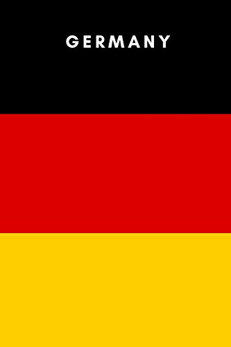 Germany: Country Flag A5 Notebook (6 X 9 In) to Write in with 120 Pages White Paper Journal / Planner /…