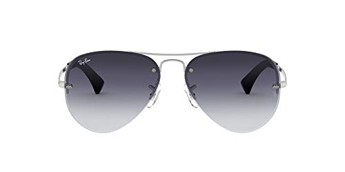 Ray-Ban Men's Rb 3449 Sunglasses, Silver, 7 1 4 UK