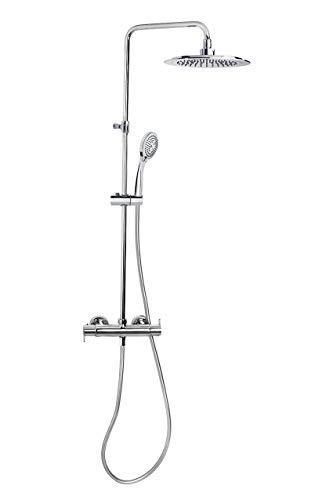 Grifería de ducha - Conjunto termostático gran ducha con columna telescópica BLAUTHERM - RAMON SOLER