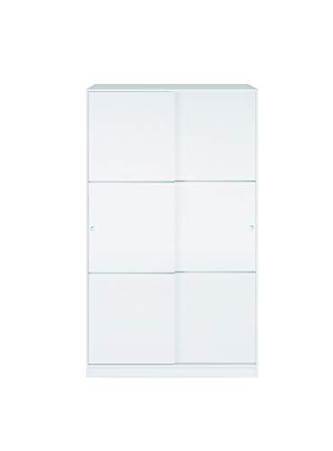 Esidra Armadio Guardaroba, 2 Ante scorrevoli, Legno Bianco, 120 x 200 x 50 cm