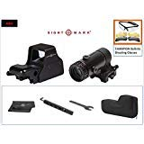 Sightmark Ultra Shot Plus Series &T-5 Magnifier with LQD Flip to Side Mount Combo SM26008+SM19064 Plus Deal of Outdoor Lens Cloth