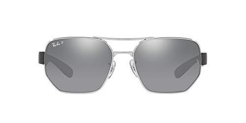 Ray-Ban 0RB3672 Gafas, Silver, 60 Unisex Adulto