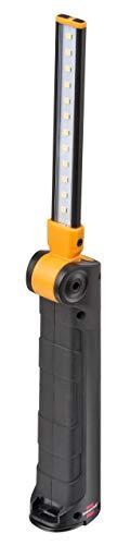 Brennenstuhl Akku LED Arbeitsleuchte SANSA / LED Werkstattlampe mit Akku und Magnet (Leuchtdauer max. 80h, 400+70lm, auf Taschenformat einklappbar, inklusive USB-Ladekabel)