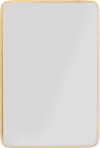 Kare Design Spiegel Jetset Square Gold 94x64cm, rechteckiger Wandspiegel mit goldenem Rahmen, verschiedene Ausführungen erhältlich, (H/B/T) 94x64x3,5cm