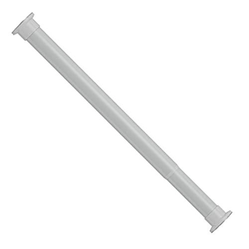 YLGAN Poste de Cortina de Ducha de riel Extensible, Polo Colgante de Acero Altamente Carbono, Polo de Resorte de tensión Ajustable, Barras de Cortina, Varilla Diámetro: 32mm,White-110~160cm