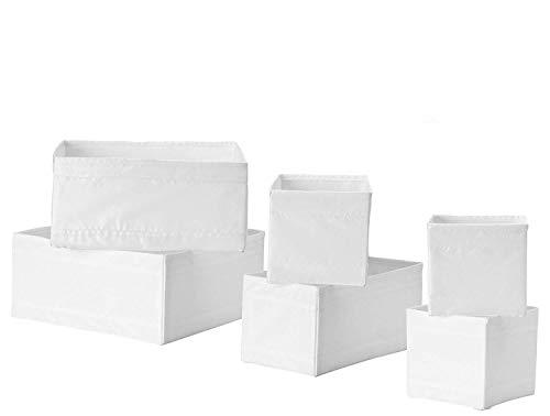 Ikea Schubladenaufbewahrungsbox / Aufbewahrungsbox, 18 Stück, Weiß