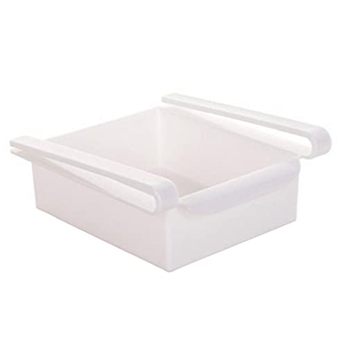 Plástico Recipientes de la Plaza de Almacenamiento de Alimentos Organizador del cajón para la Nevera de Tabla del Escritorio (Blanco) Productos para el hogar