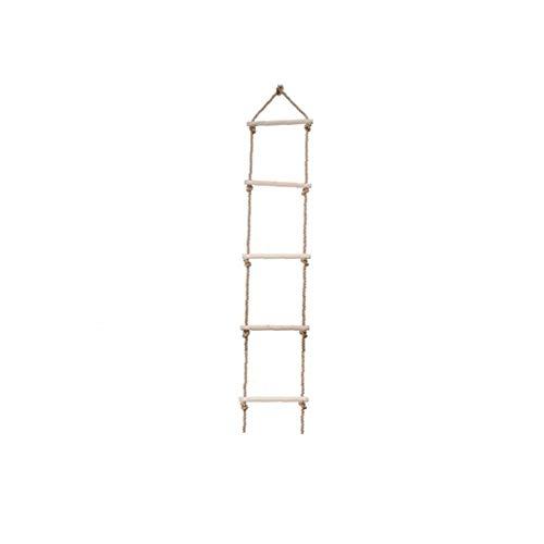 5 Etapa Cuerda De Escalada Escalera De Madera Del Patio Cuerda Que Sube Escala De Madera De Árbol Escalera Juguete Para Niños Juegos De Aventura Suministros Madera Color Jardinería