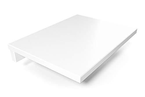 ABC MEUBLES - Tablette de Chevet Suspendue Bois - 2820 - Blanc