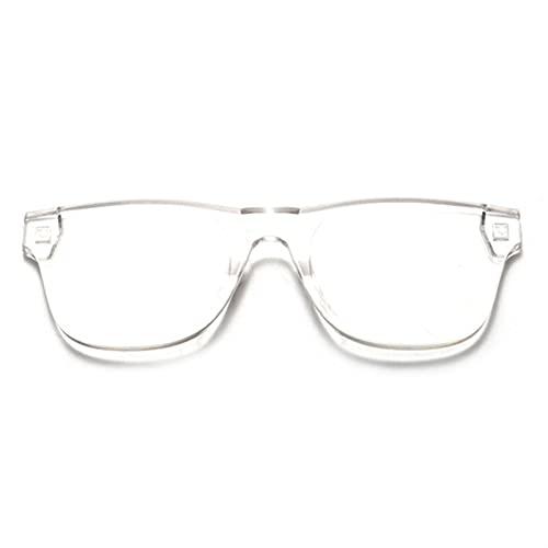 YUANBOO Gafas De Sol Cuadradas Coloridas para Mujer Gafas De Sol Sin Montura para Hombre Gafas De Sol De Caramelo Siamés Sin Marco Rojo Verde Gris Gafas (Lenses Color : Transparent)