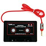 Car Cassette Adapter 3.5mm Car Audio AUX - IC900 Compatible with CD/ MP3/ Smartphones (Black)