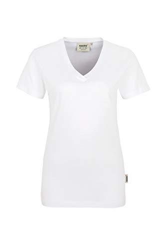 "HAKRO Damen V-Shirt ""Classic"" - 126 - weiß - Größe: M"