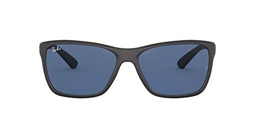 Ray-Ban 0rb4331 Lentes oscuros, Matte Black/Dark Blue, 61/16/135 para Hombre